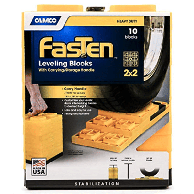 Camco yellow leveling blocks, 10 pack