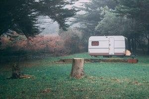 camper after leveling