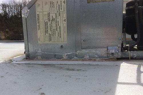 rv air conditioner caulked