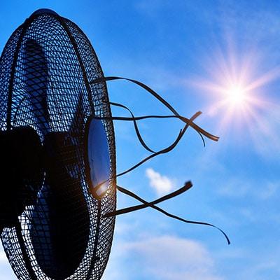 fan for a pop up camper in the sun
