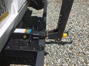 Side view of bike receiver hitch