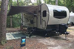 travel trailer in myrtle beach state park